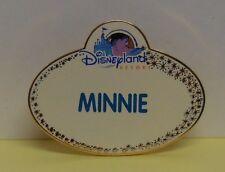 Disney Pin DLR Disneyland Resort Cast Member Name Tag Minnie LE2000