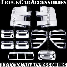 For FORD F150 2009-2014 Chrome Covers Mirrors+Doors+Brake+Tail Lights+Tailgate