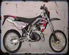 GAS GAS SM 125 02 A4 metal sign moto Vintage Aged