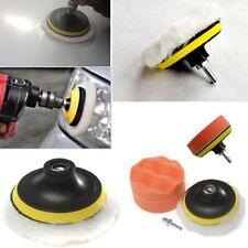 Buffer Polishing Pad Set Drill Kit Tool 4 Inch Wax Sponge Foam Detailing