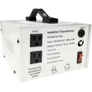 SD110-1010W TORTECH 1010W Usa Stepdown Transformer 110V Dielectrically Isolated