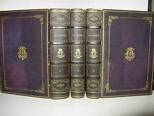 LA HARPE COURS DE LITTERATURE 1851 BELLE RELIURE ARMES LEOPOLD 1ER BELGIQUE 3/3