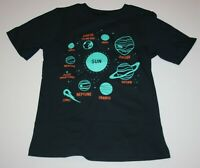 New Carter's Boys  5 6 7 8 12 14 year Graphic Tee Solar System Top Black Short s