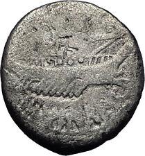 MARK ANTONY Cleopatra Lover 32BC Actium Ancient Silver Roman Coin LEG XII i57861