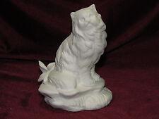 Ceramic Bisque Persian, Himalayan, Kashmir Cat on a Rock Base U-Paint