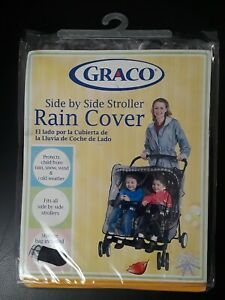 GRACO Side by Side Striller Rain Cover w/Storage Bag Style #10113 New