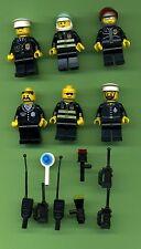 Lego--Figur--Polizei--Figuren--6 Stück --Konvolut -- Mit Zubehör-
