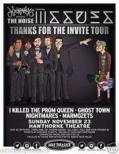 "ISSUES / I KILLED THE PROM QUEEN / GHOST TOWN ""NOISE TOUR 2014"" PORTLAND POSTER"