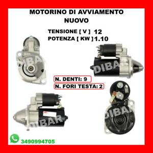 Anlasser Neu 12V 1.10KW 9 Zähne Lombardini Von 1989 STR33001 56