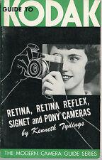 1959 kodak caméra guide retina reflex signet poney. plus d'instruction livres mis en vente