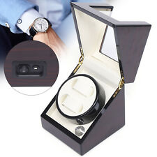 Timer Mode Auto Silent Rotation Display Luxury 2slot Watch Winder Display Box 5