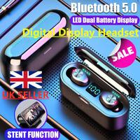 TWS Bluetooth 5.0 Headset Twins Wireless Headphone Stereo Earphones Earbuds UK