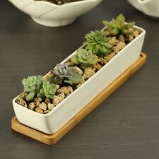 Succulent Plant Pots 11 Inch Long Ceramic Containers Cactus Planter Flower Pot