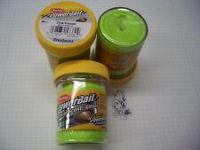 Berkley Power Bait Trout Bait Glitter Chartreuse Muschel 3x50g-Glas 100g/6,66€