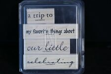 Stampin' Up PHRASE STARTERS Set of 4 Rubber Stamps 2002