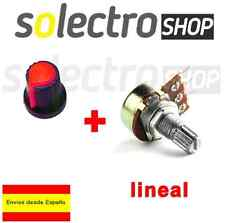 Embellecedor boton rojo + Potenciometro B10K lineal 10k - Arduino knob 16mm