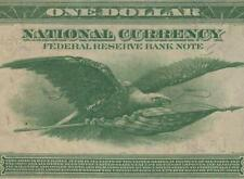 PMG 50 EPQ 1918 $1 DOLLAR BILL GREEN EAGLE BANK NOTE LARGE PAPER MONEY Fr 718 AU