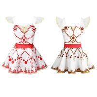 Kid Girls Leap Dance Dress Ballet Gymnastics Leotard Dress Ballerina Dancewear