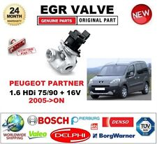 FOR PEUGEOT PARTNER 1.6 HDi 75/90 + 16V 2005-> EGR VALVE 5PIN with GASKETS/SEALS