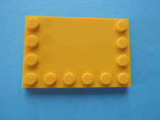 LEGO 3 x Fliese 6180  gelb 4x6 Randnoppen 7685 7632 7249