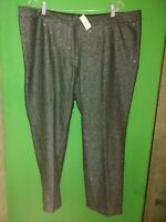 2893) NWT TALBOTS  20W Petite 20WP gray gray wool pants front zip crop new 20WP