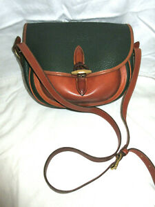 Vintage Dooney & Bourke Pebbled Leather Crossbody Green EC