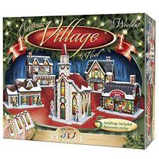 Wrebbit 3D Puzzle Christmas Village Puzzle Collection (116 Large pieces)