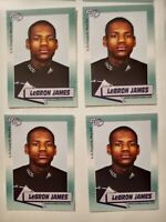LeBron James rookie card lot of 4  2002 Rookie Review Basketball cards nrmt mint