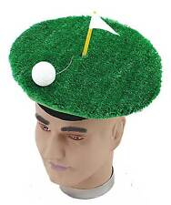 LADIES MENS KIDS GOLF BALL FLAG NOVELTY CLUB TEE GREEN SILLY FANCY DRESS HAT NEW