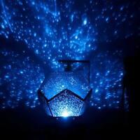 Star Sky LED Projector Night Light Rotating Starry For Kids Christmas Gift V5M7