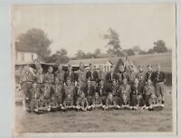 Vintage BOY SCOUT CAMP Group Pose 1950's Merin Studios Phila. PA Valley Forge?