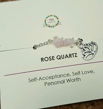 Minimalist Rose quartz gemstone anklet Yoga Healing Yoga Jewelry