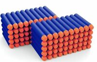 100PCS SOFT REFILL BULLETS DARTS ROUND HEAD BLASTERS FOR NERF N-STRIKE TOY UK