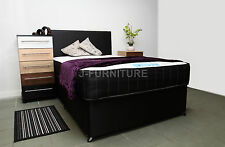4ft Small Double Divan Bed With Luxury Memory Foam Mattress Headboard Made in UK