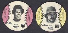 1978 Wiffle Ball Discs Lot Rod Carew Al Hrabosky NM Or Better