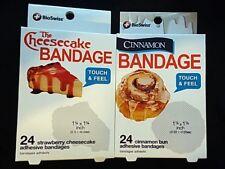 2 Packs 24 BioSwiss Bandages Each - One Pack Each - Cheesecake & Cinnamon Bun