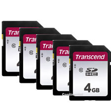 5 Transcend 4GB SDHC Class 10 Secure Digital Memory for Canon G9X T6s T6i SL1 T5