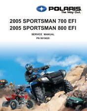 Polaris 2005 ATV Sportsman 700 EFI / 800 EFI service manual on CD