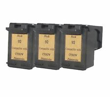 Printenviro for 3x HP 92 HP92 Black C9362WN Reman Ink Cartridge 60% More Output