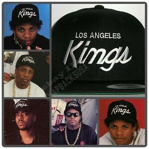 LA Los Angeles Kings Script Cap Hat Snapback Black NWA EAZY E