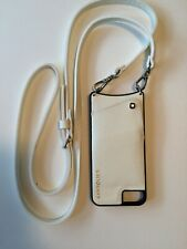 Bandolier Crossbody White Leather For iPhone 6/7 With Side Slot And Strap