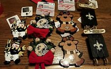 Set of 8 New Orleans SAINTS NWT by NFL forever collectibles Christmas ornaments