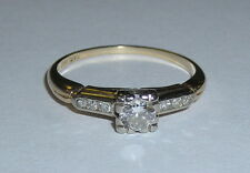 Vintage Ladies Diamond Engagement Ring with 1/4 Carat Solitare