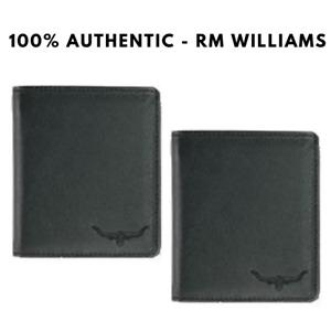 RM Williams Large Tri-Fold Kangaroo Leather Wallet - Black - RRP 180