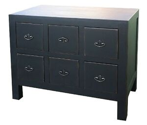 Oriental Chinese Six Drawer Cabinet chest of drawers