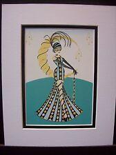 "Art Deco  "" Carnival"" matted art print by Yvette Jordan"