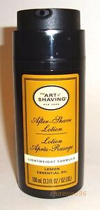 THE ART OF SHAVING AFTER SHAVE LOTION LEMON ESSENTIAL OIL 100 ml 3.3 oz NEW TST