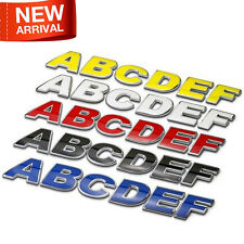 Blue Yellow Red White Metal Letter Number DIY Auto Car Emblem Badge Sticker New