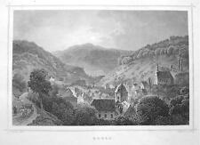 GERMANY City of Ruhla - 1860 Original Engraving Print