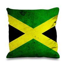 Jamaican FLAG in finta seta 45cm x 45cm Divano Cuscino-Giamaica